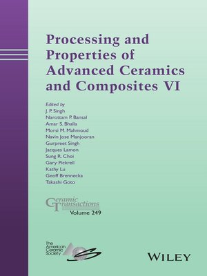 cover image of Processing and Properties of Advanced Ceramics and Composites VI
